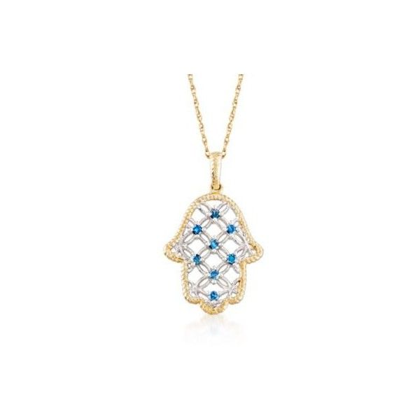 Ross simons blue diamond hamsa hand pendant necklace in gold 18 ross simons blue diamond hamsa hand pendant necklace in gold 18 aloadofball Gallery