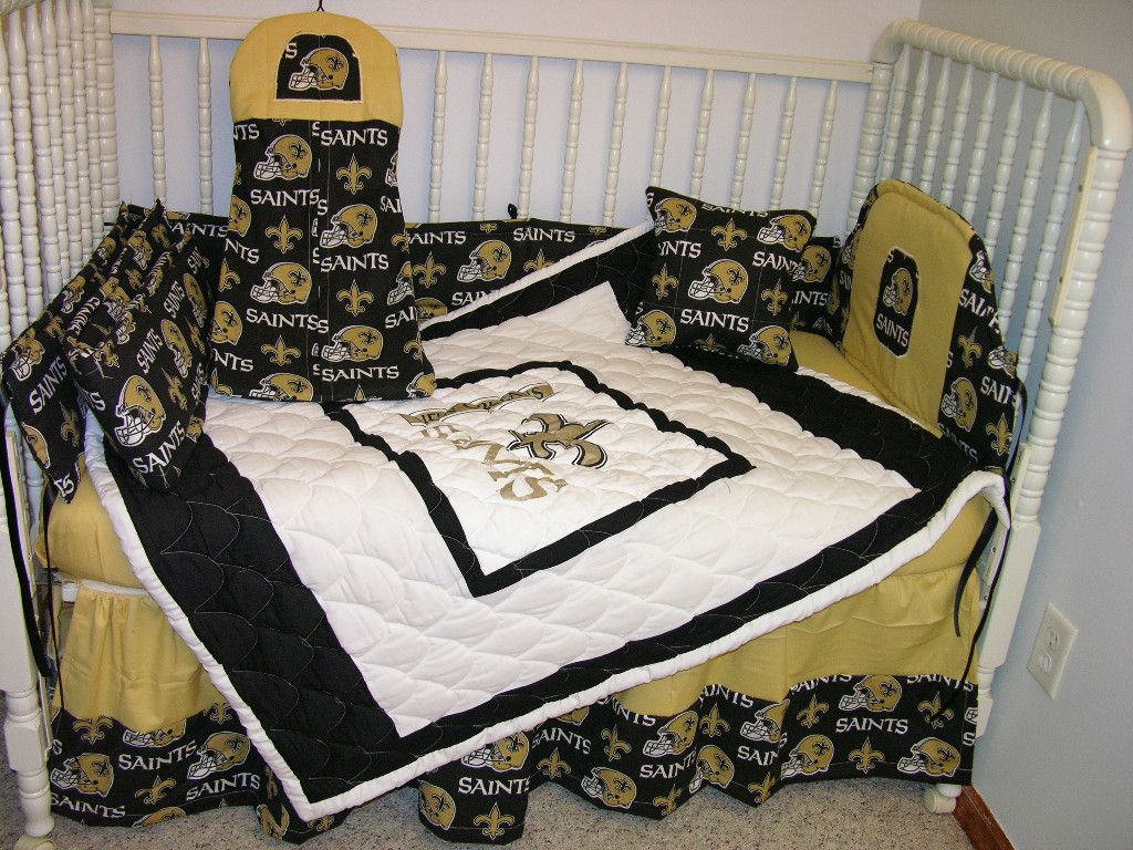 Crib Nursery Bedding Set Made W New Orleans Saints Baby