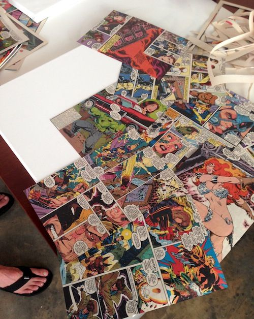 Comic Book Craft: DIY Superhero Canvas