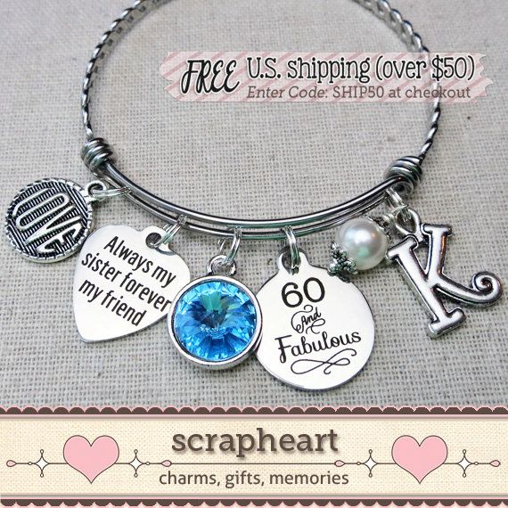 A sister is Gods way of making sure we never walk alone Sister jewelry sister birthday gift Gifts for Sister sister bracelet always my sister forever my friend charm bracelet