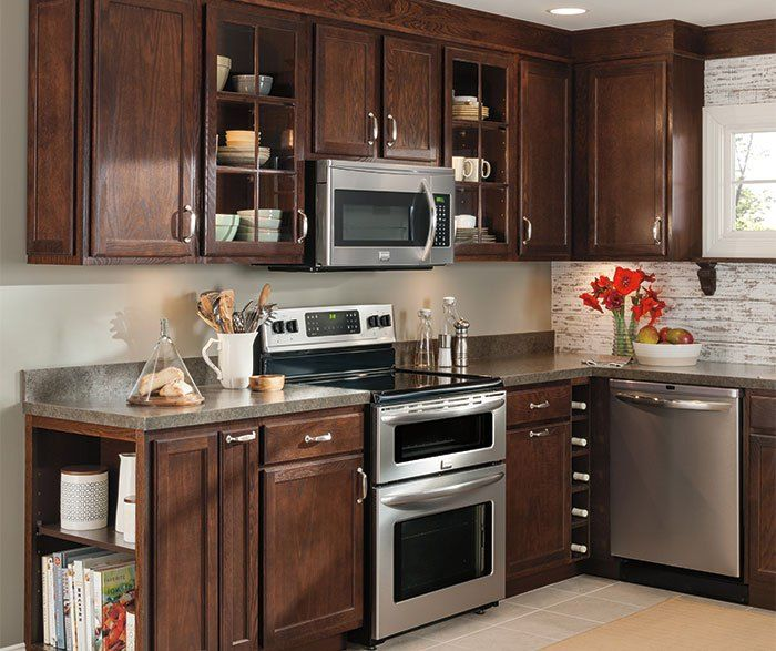 umber cabinets oak kitchen cabinets aristokraft cabinetry kitchen ...