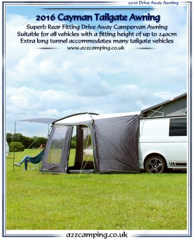 Outdoor Revolution Cayman Tailgate 4x4 Free Standing Motor Home Awning Mazda Bongo Campervan Awnings Outdoor