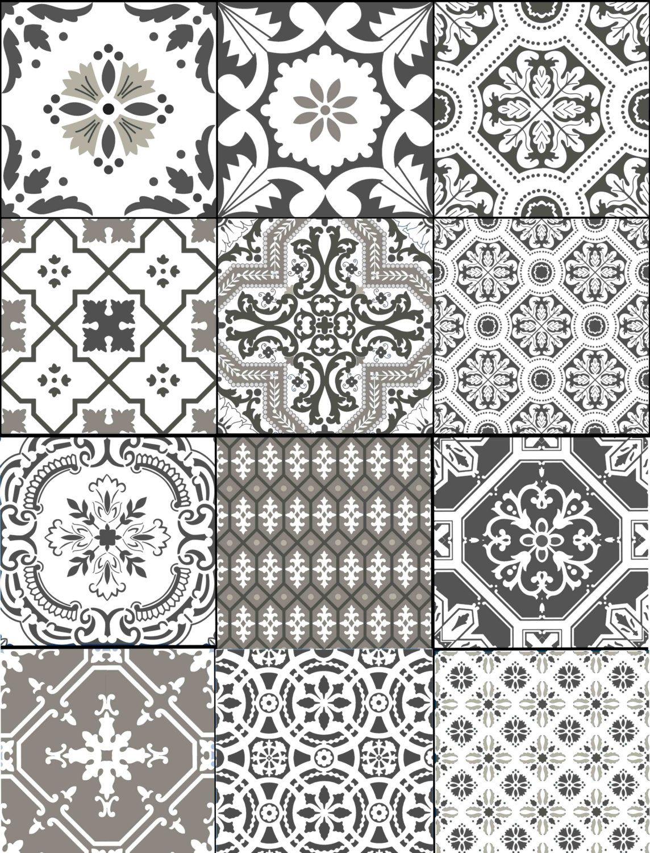 Kitchen Bathroom Stair Risers Tile Decals Vinyl Sticker