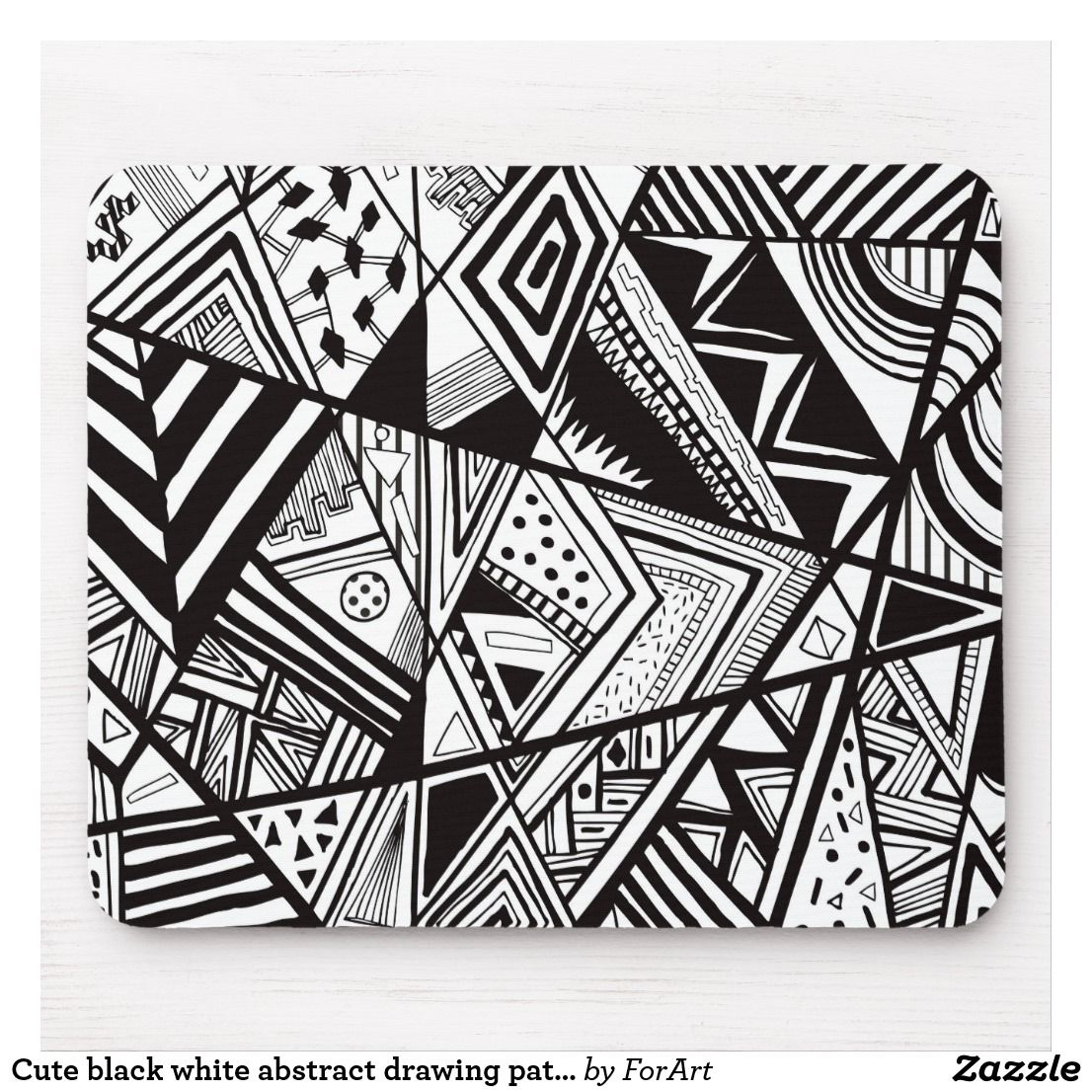 Cute Black White Abstract Drawing Patterns Mouse Pad Abstract Drawings Drawing Pattern Black And White Drawing Black and white abstract drawings