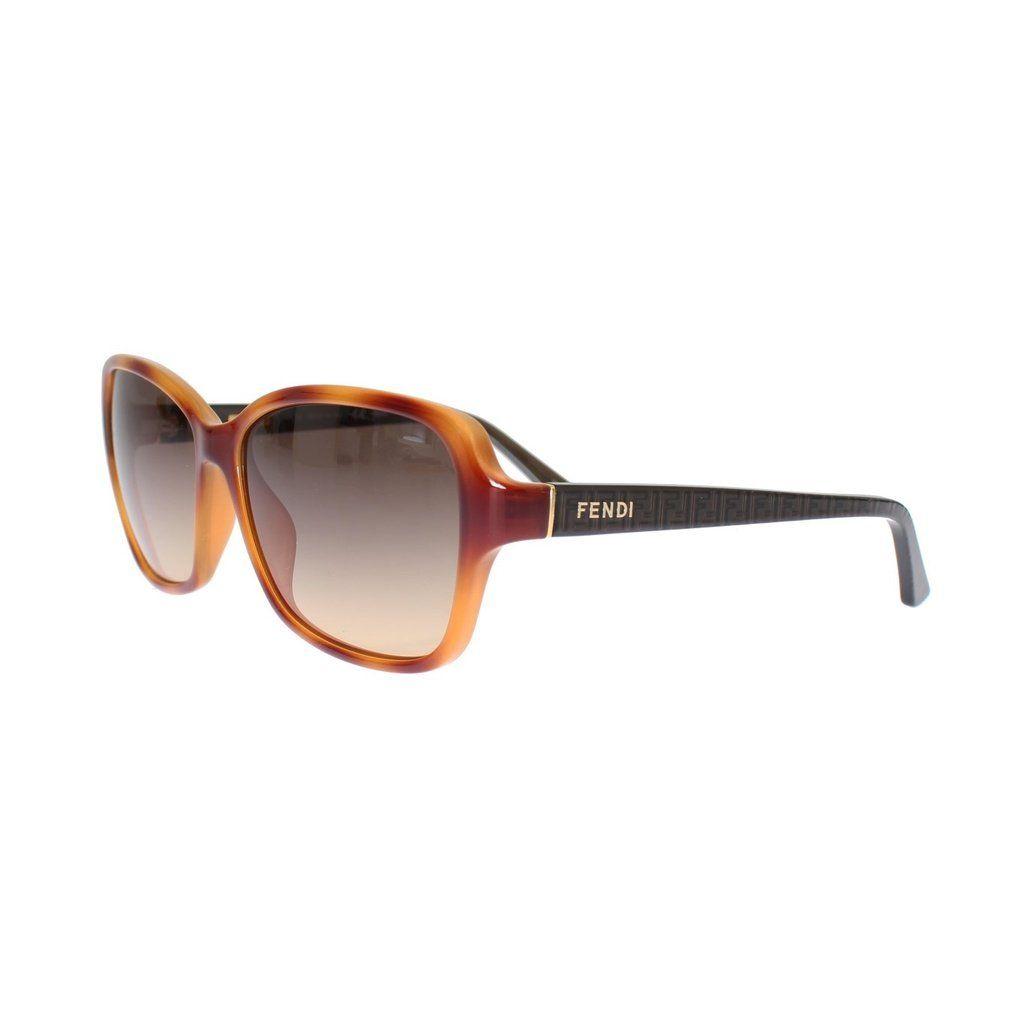 dbea2212eb FENDI Beige Brown Plastic Frame UV Lens Sunglasses
