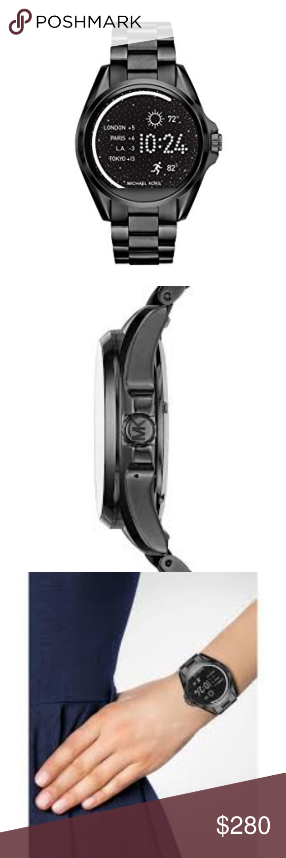 Michael Kors Unisex Black Smart Watch MKT5005 MKT5005