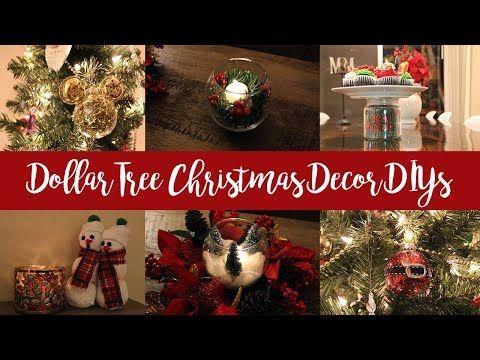 dollar tree diy christmas decorations 2017 youtube