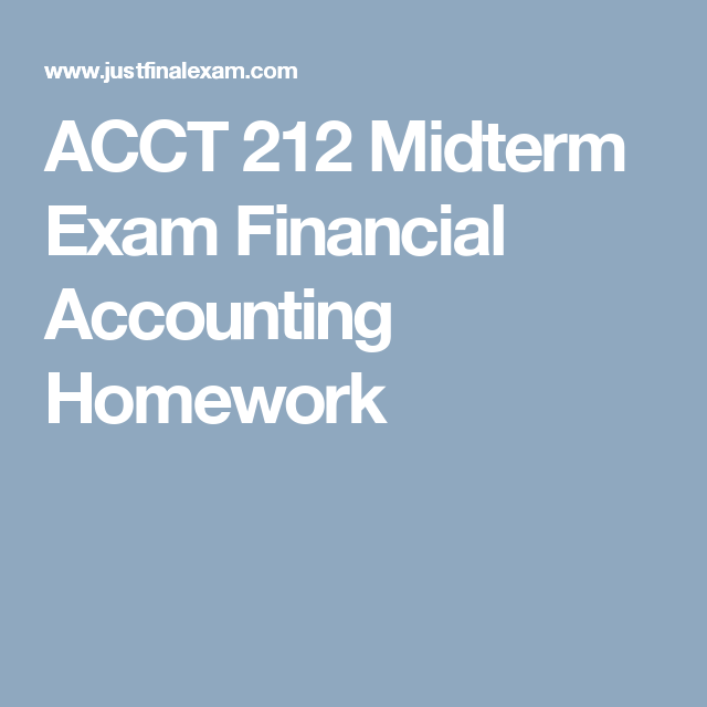 financial accounting midterm