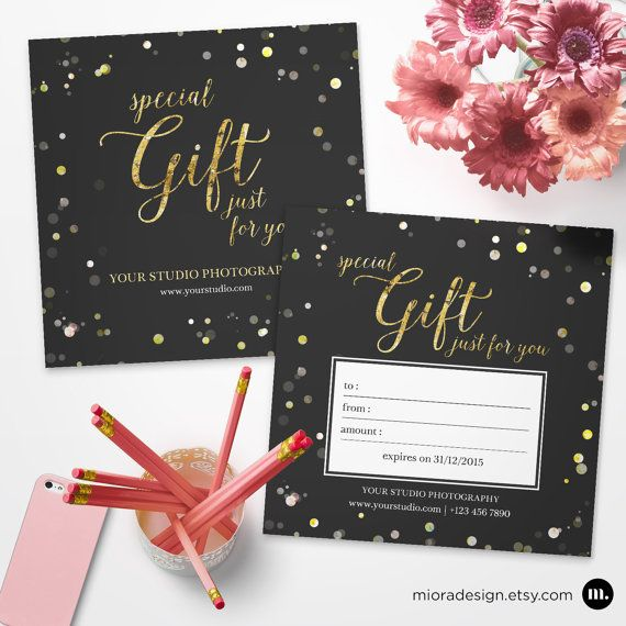 Photography Gift Certificate Template For Photographer  Instant