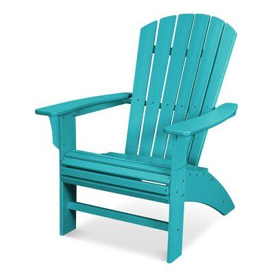 Trex Yacht Club Curveback Plastic Resin Adirondack Chair Color Aruba Pallet Furniture Outdoor