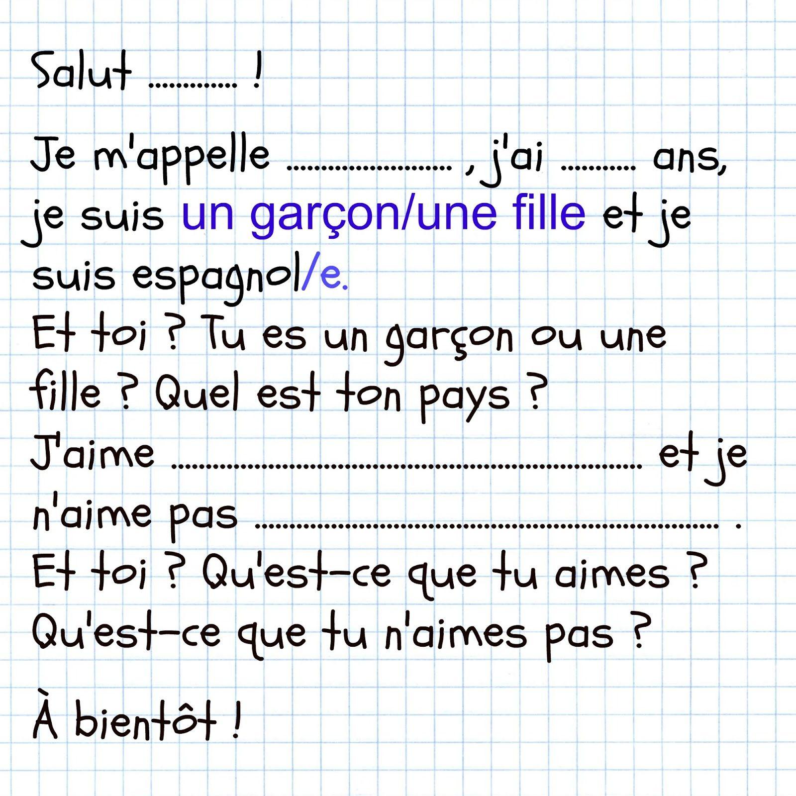 La lettre | astuces & contenu. | Pinterest | Französisch deutsch ...