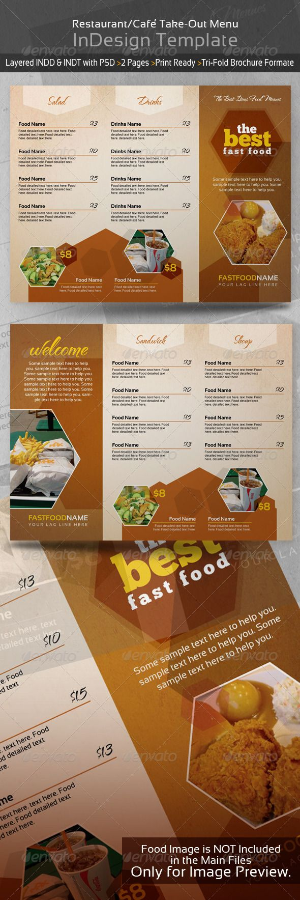 restaurant cafe take out menu template menu
