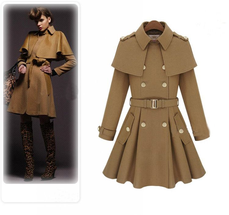 Wholesale WOMAN'S HOT SALE WOOLEN COATS,bucket double breasted big pendulum woolen cloth coat fur coat-in Wool & Blends from Apparel & Acces...