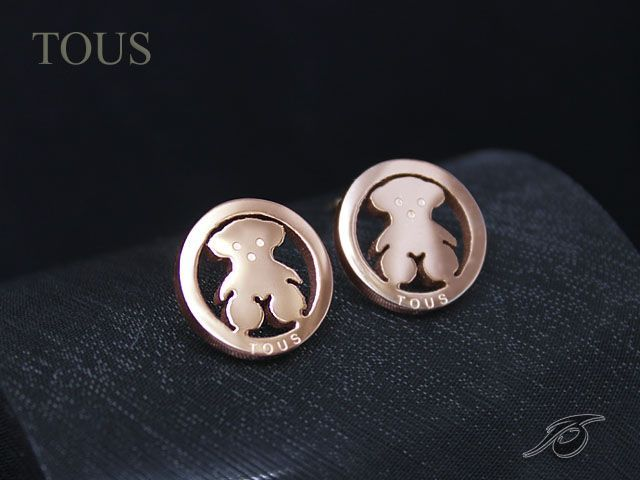 d49838ff03b2 Replica Tous jewelry with rose golden color classic panda earrings ...