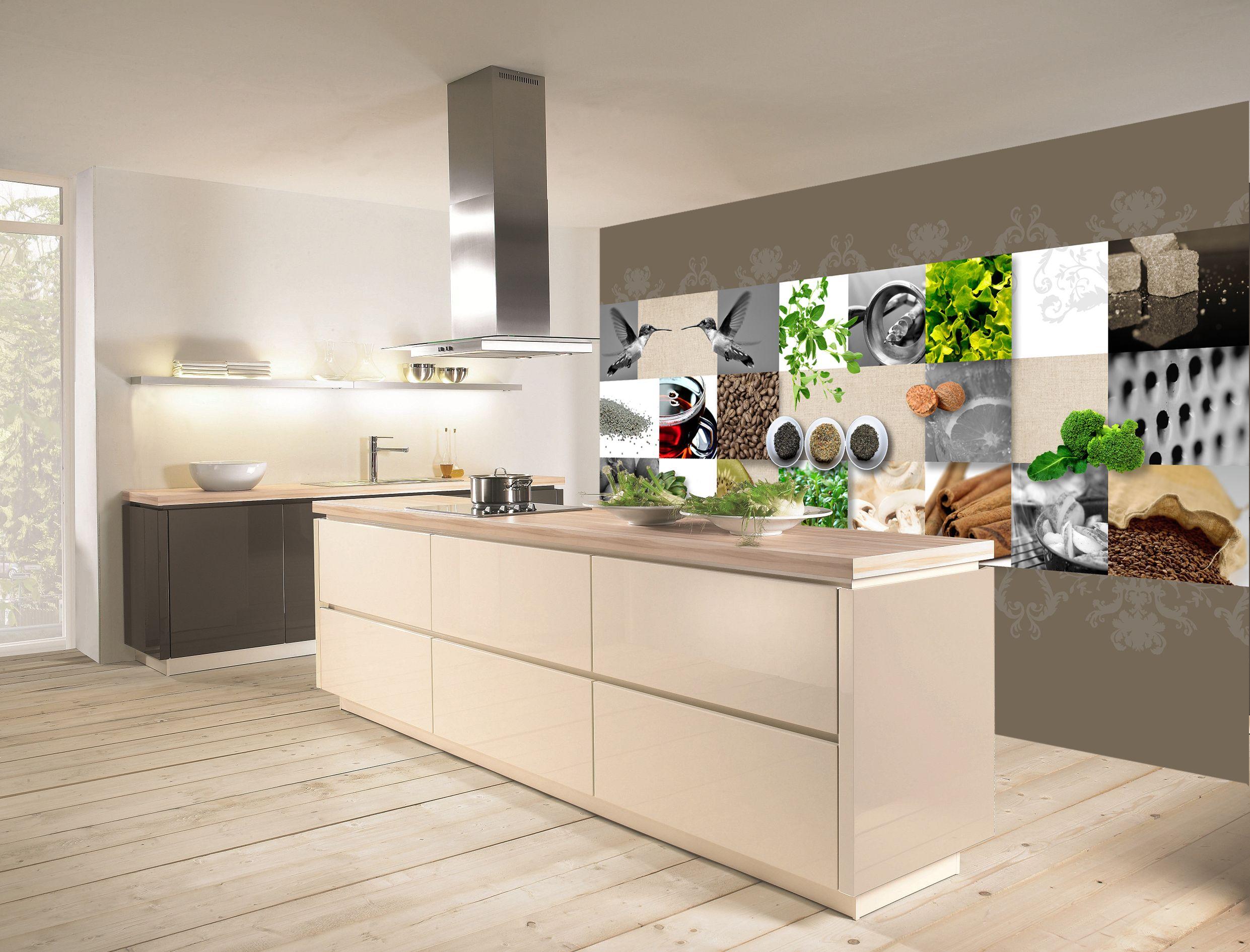 Wanddecoratie culinair in keuken van behangrijk. keuken kitchen