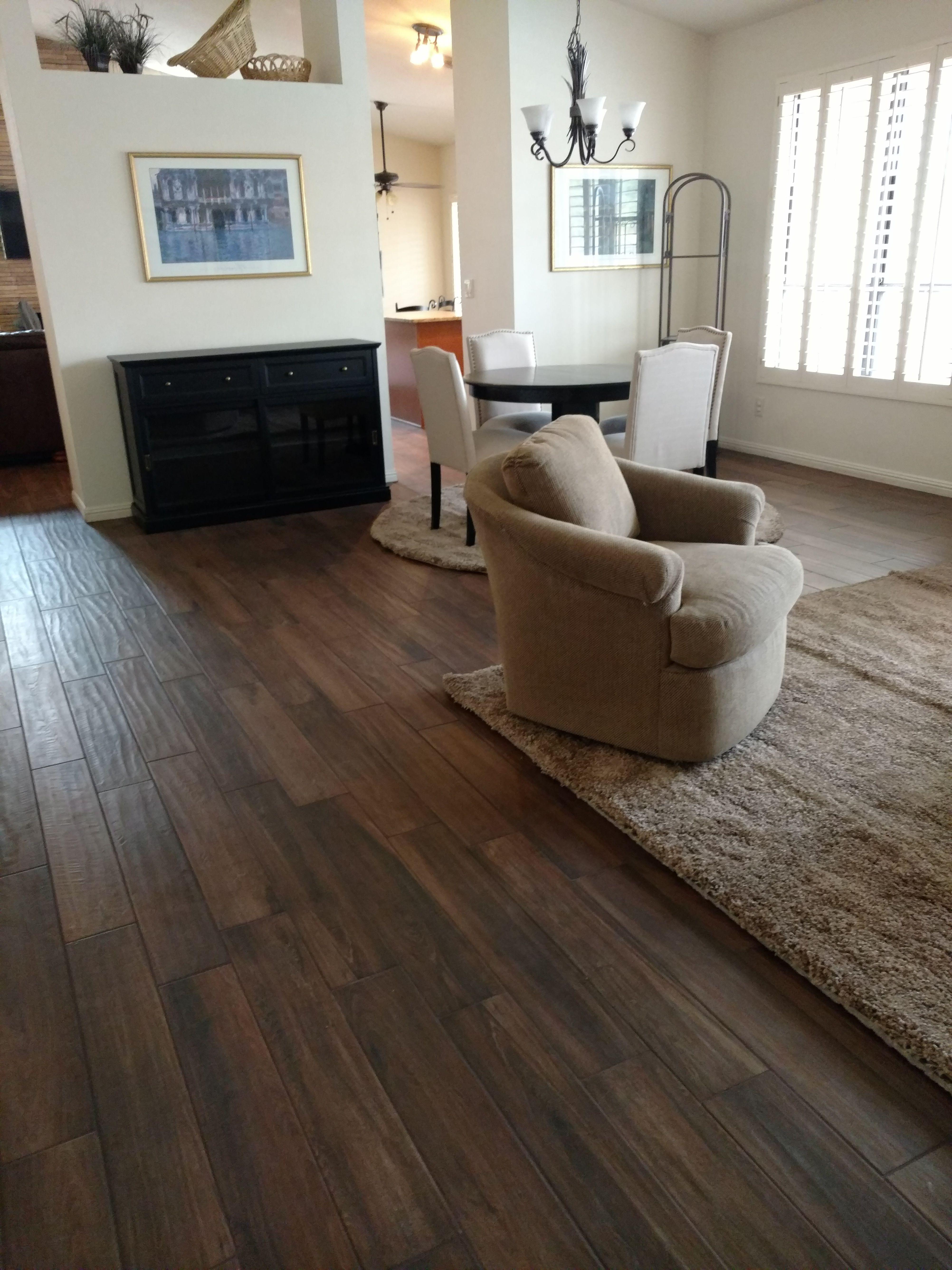 Daltile Saddlebrook Walnut Creek Wood Tile Floors Look Floor