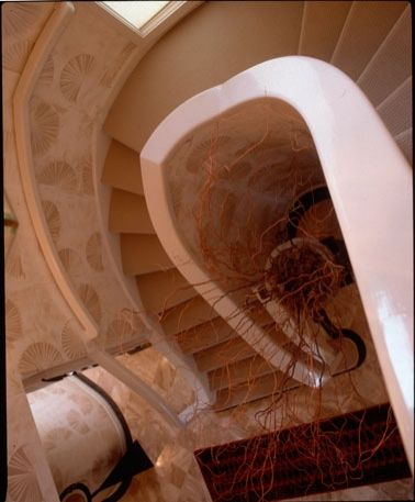 Curved & Flared Stairs with Custom Handrail and Bullnose by Great Lakes Stair & Millwork.