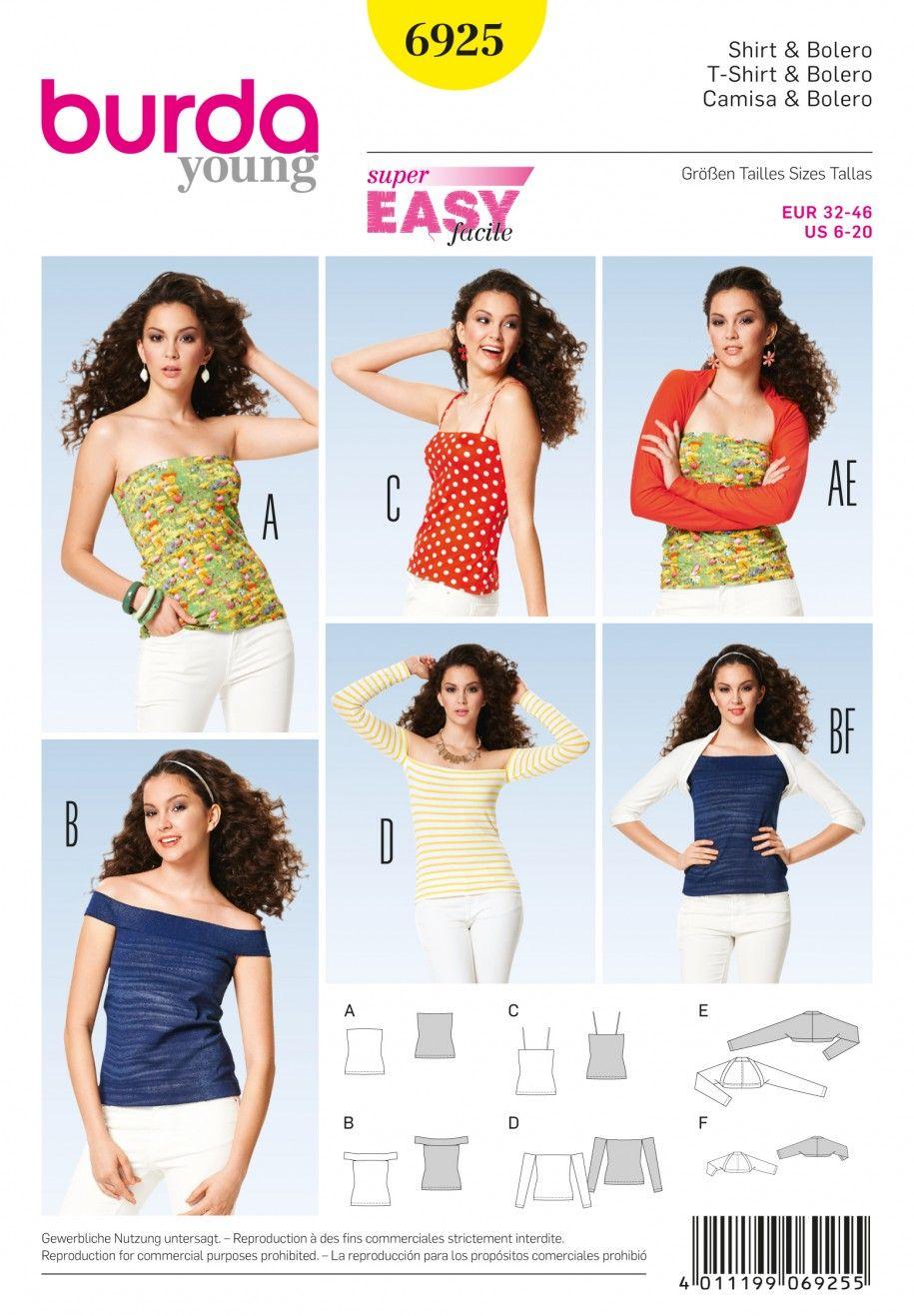 Burda b6925 burda style tops shirts blouses sewing pattern burda b6925 burda style tops shirts blouses sewing pattern jeuxipadfo Choice Image