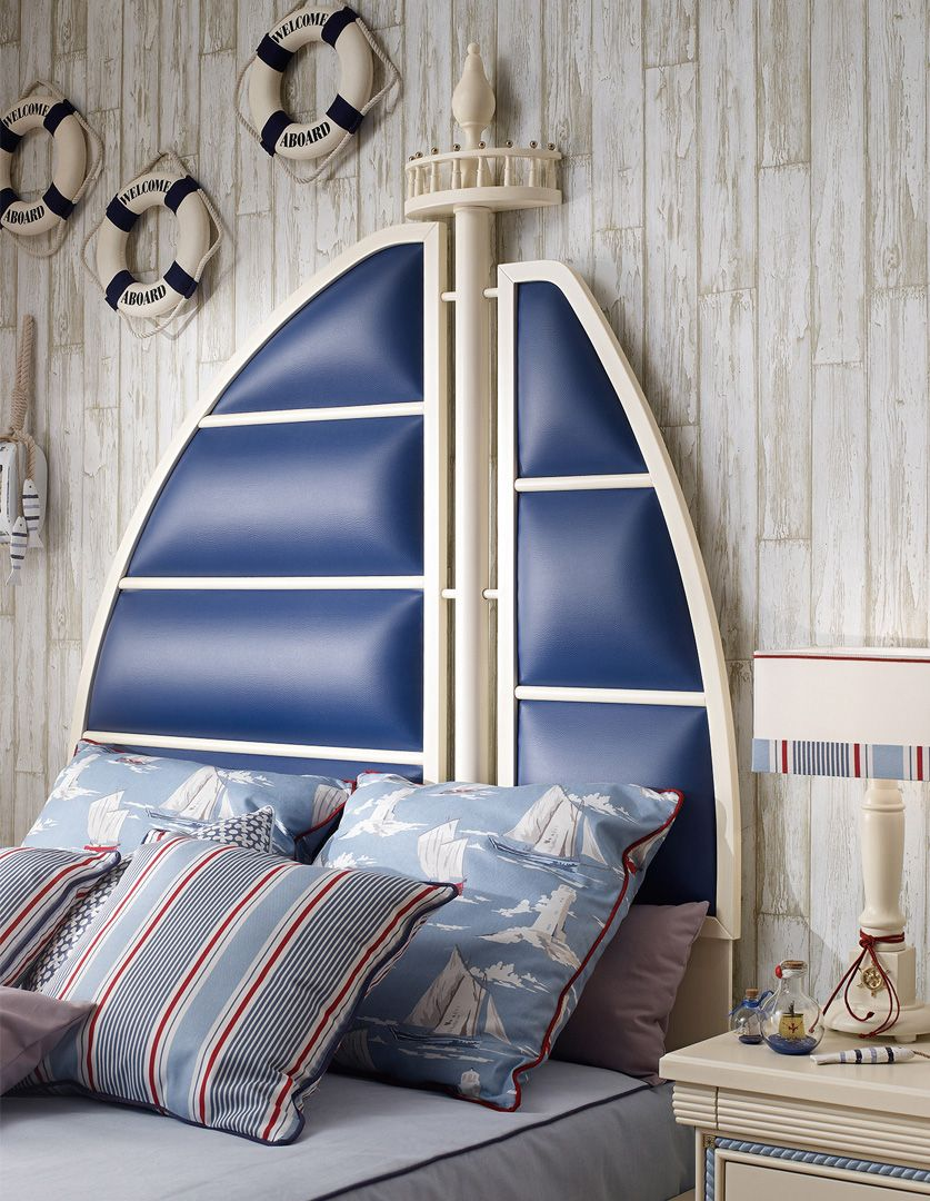 Dettaglio letto cameretta cordage finitura mogano laccato patinato caroti children - Testa del letto ...