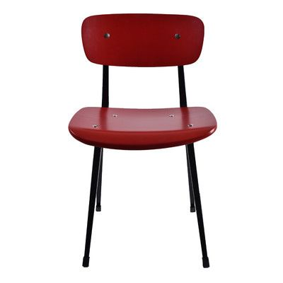 Porthos Home Alvin Side Chair Color: Red