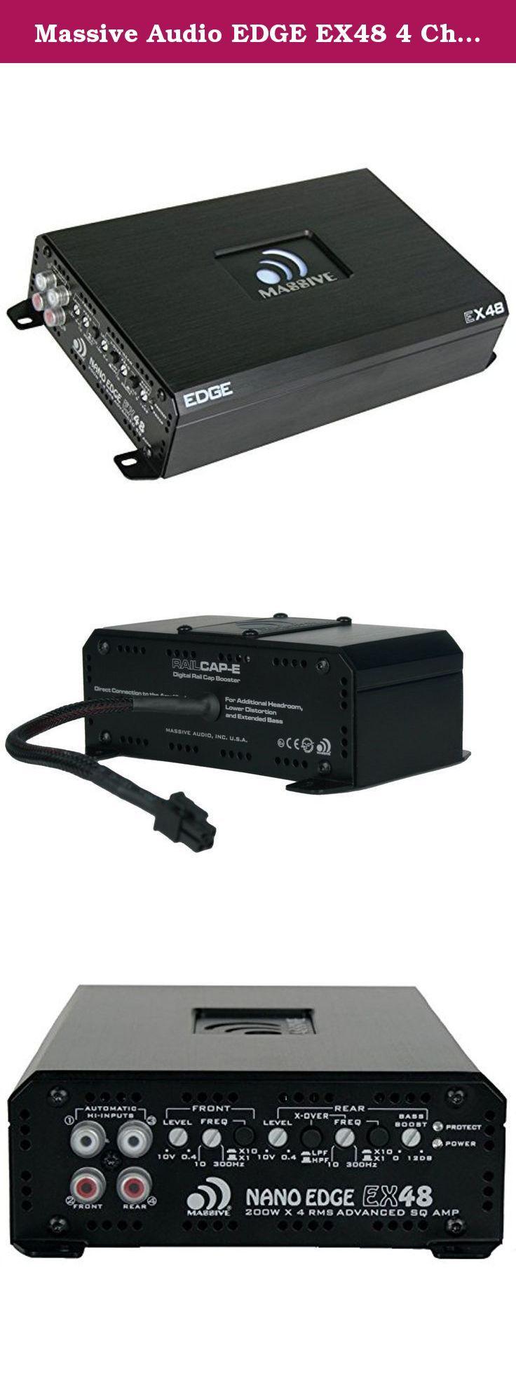 Massive Audio EDGE EX48 4 Channel Amplifier. Features