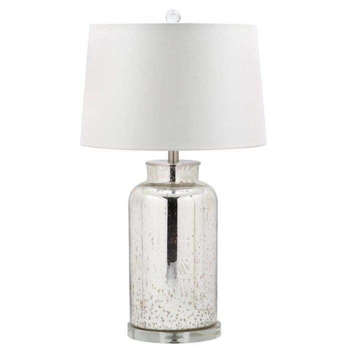 Glass Base Table Lamps Clean And Neat Describe This Mercury Glass Base Table Lamp With