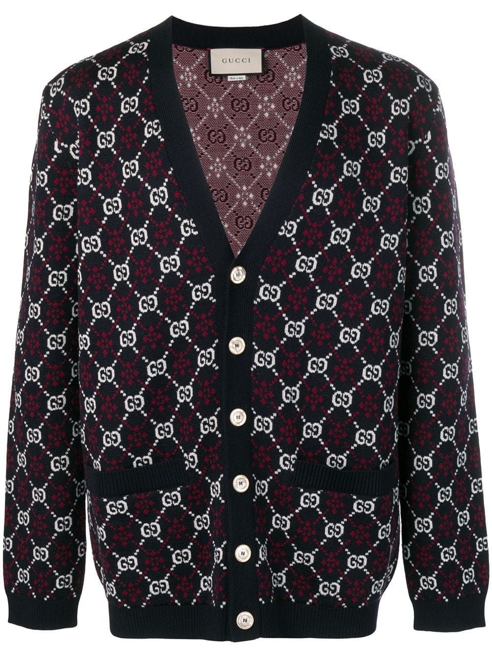 2ac5e454d32 Gucci GG Motif Cardigan in 2019   Products   Sweater outfits, Shawl ...