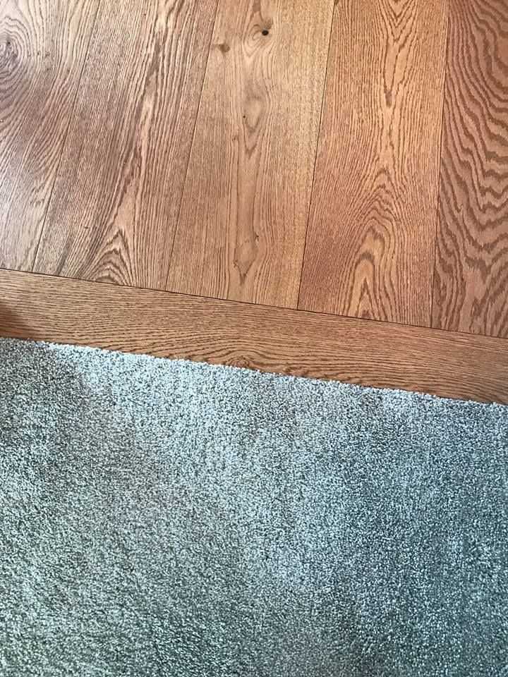 Transition From Hardwood To Carpet Impressions Hardwood Denali In Wheat Color With Images Creative Flooring Carpet Trends Grey Carpet