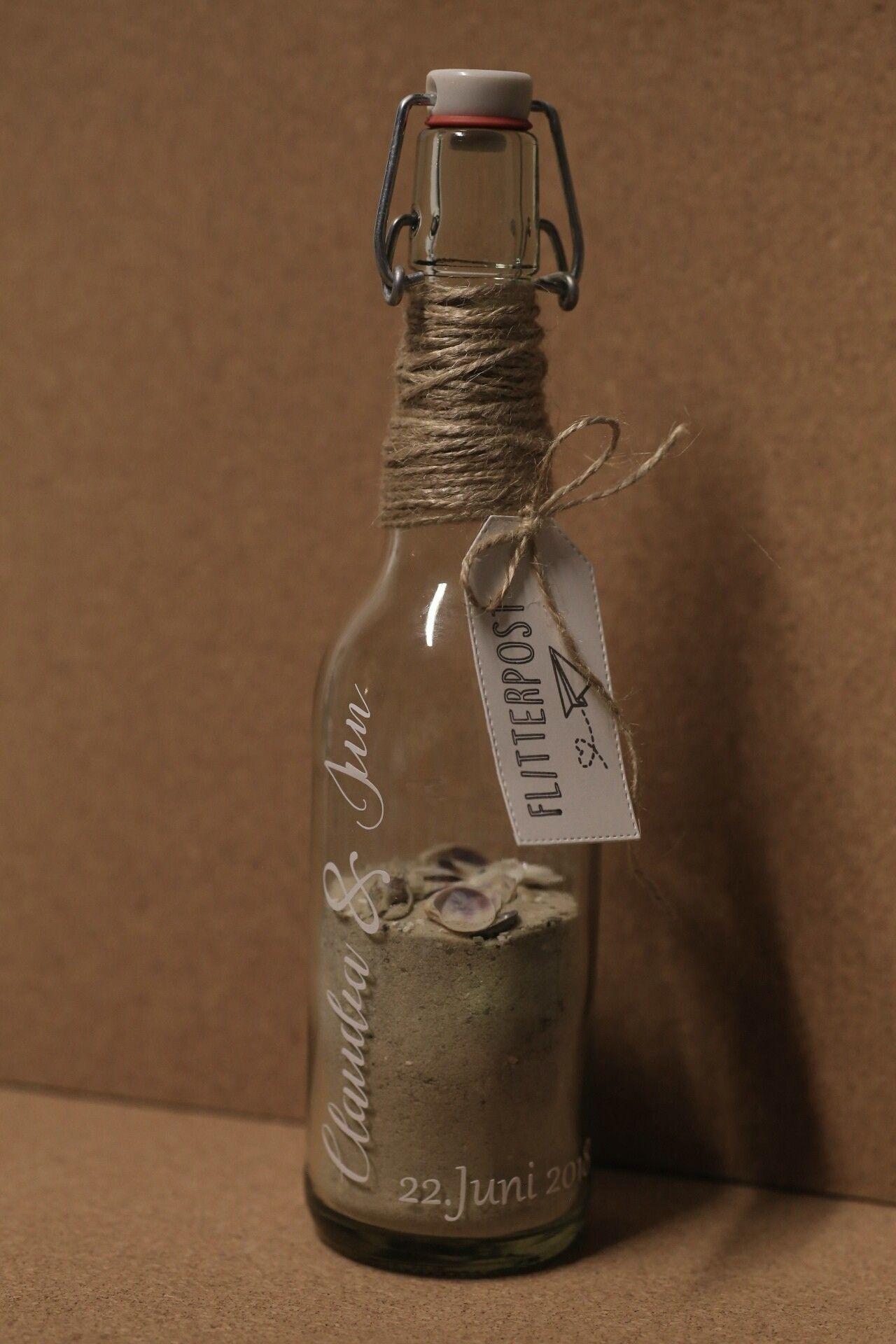 geldgeschenk hochzeit flaschenpost