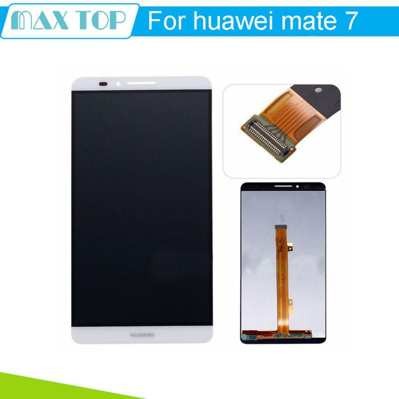 Huawei mate 7 대한 lcd 디스플레이 + 터치 스크린 원래 어셈블리 교체 ascend mate 7 전화 3 색