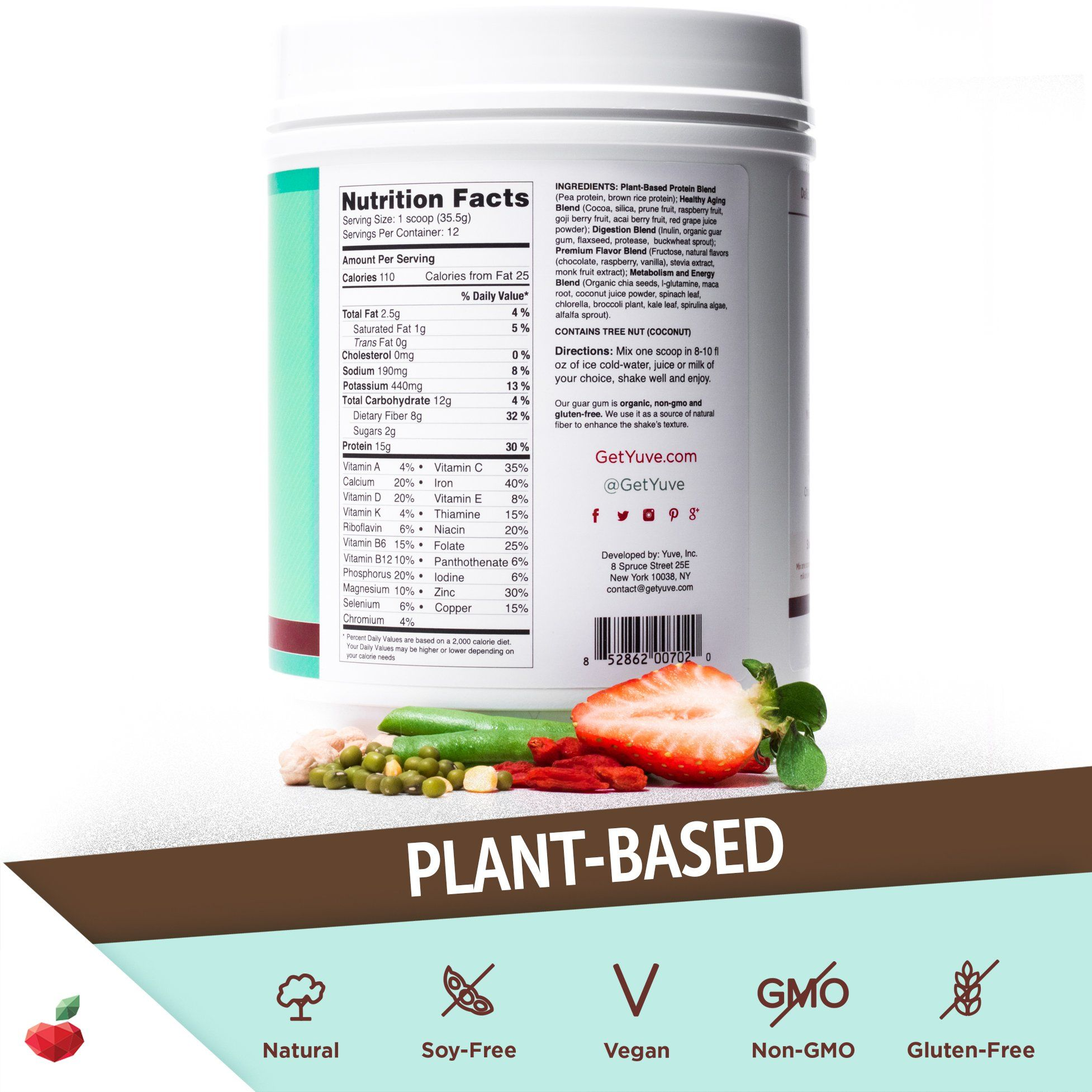 Yuve Vegan Protein Powder With Superfoods Award Winning Taste Complete Nutritional Shake Natural Nutrition Shakes Healthy Diet Shakes Lactose Free Chocolate