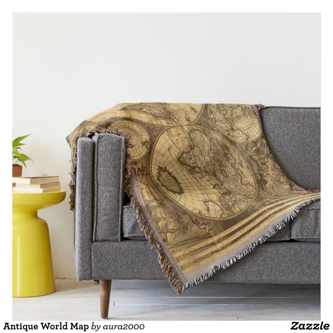 Antique world map throw blanket stuff sold on zazzle pinterest antique world map throw blanket gumiabroncs