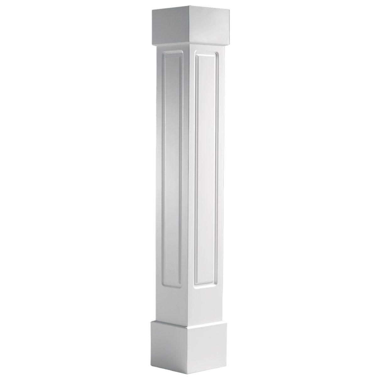 Staggering Raised Panel Molding Raised Panel Cap Molding: Endura-Craft Square Non-Tapered, Raised Panel Column