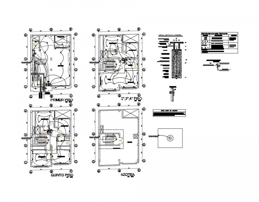 Electrical layout plan details of all floors of