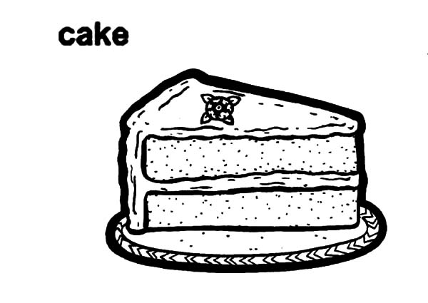 Piece Of Tasty Chocolate Cake Coloring Pages Netart