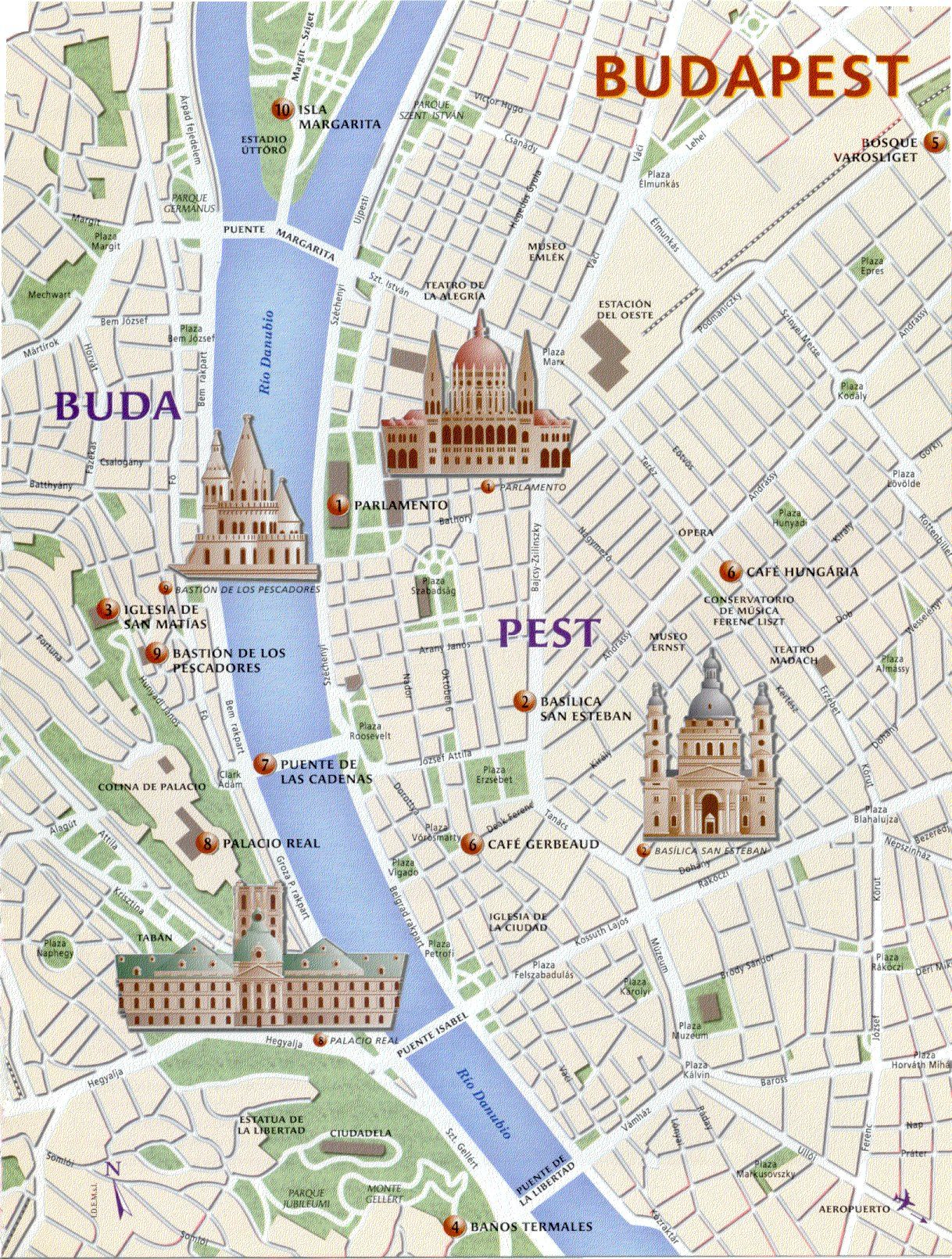 Mapa Budapest Budapest Budapest Turistika