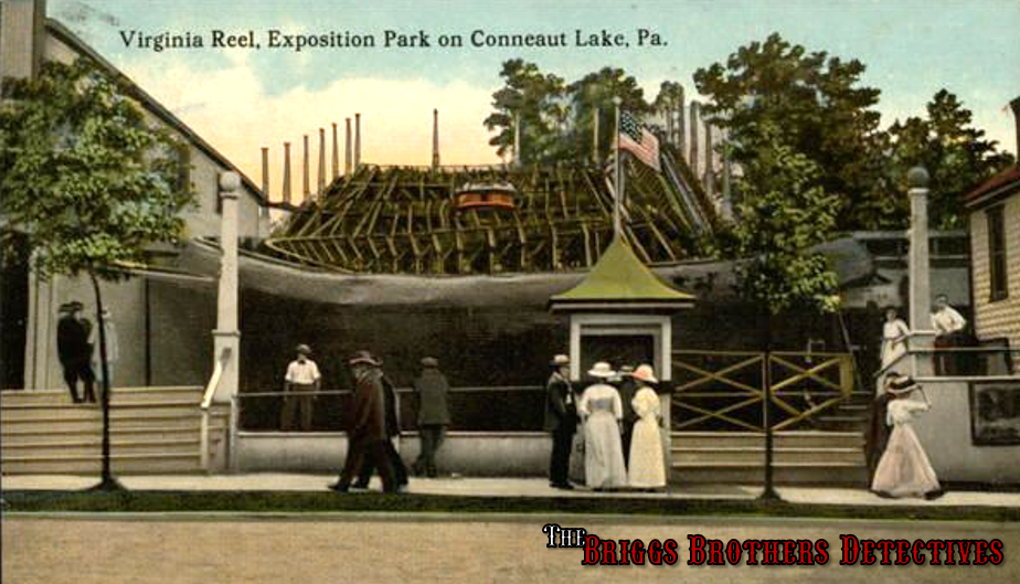 """This is a ride called the Virginia Reel which was installed in 1911 somewhere in the vicinity of the south side of Park Ave between Comstock and Center St. The Virginia Reel was actually considered a type of roller coaster with spinning circular """"tubs"""" that zig-zagged down a flat-bottomed track."""