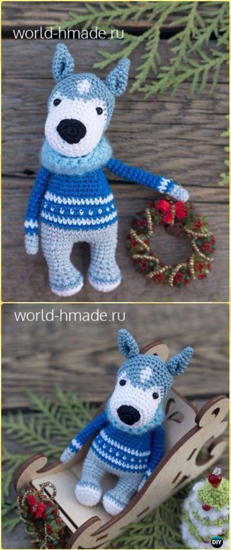 Crochet Amigurumi Dog Husky Akim Free Pattern - Amigurumi Puppy Dog ...