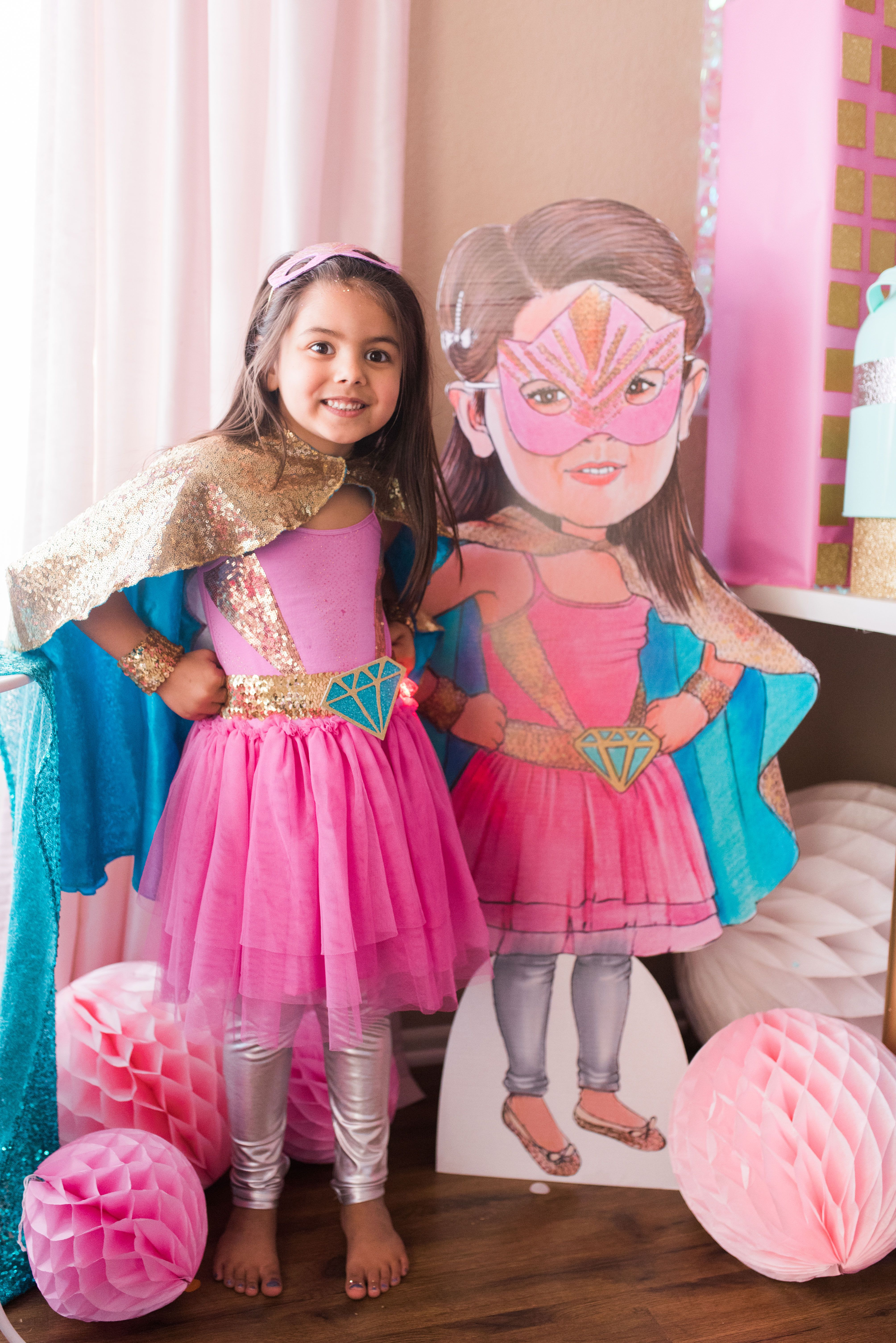 hight resolution of super hero birthday party for girls
