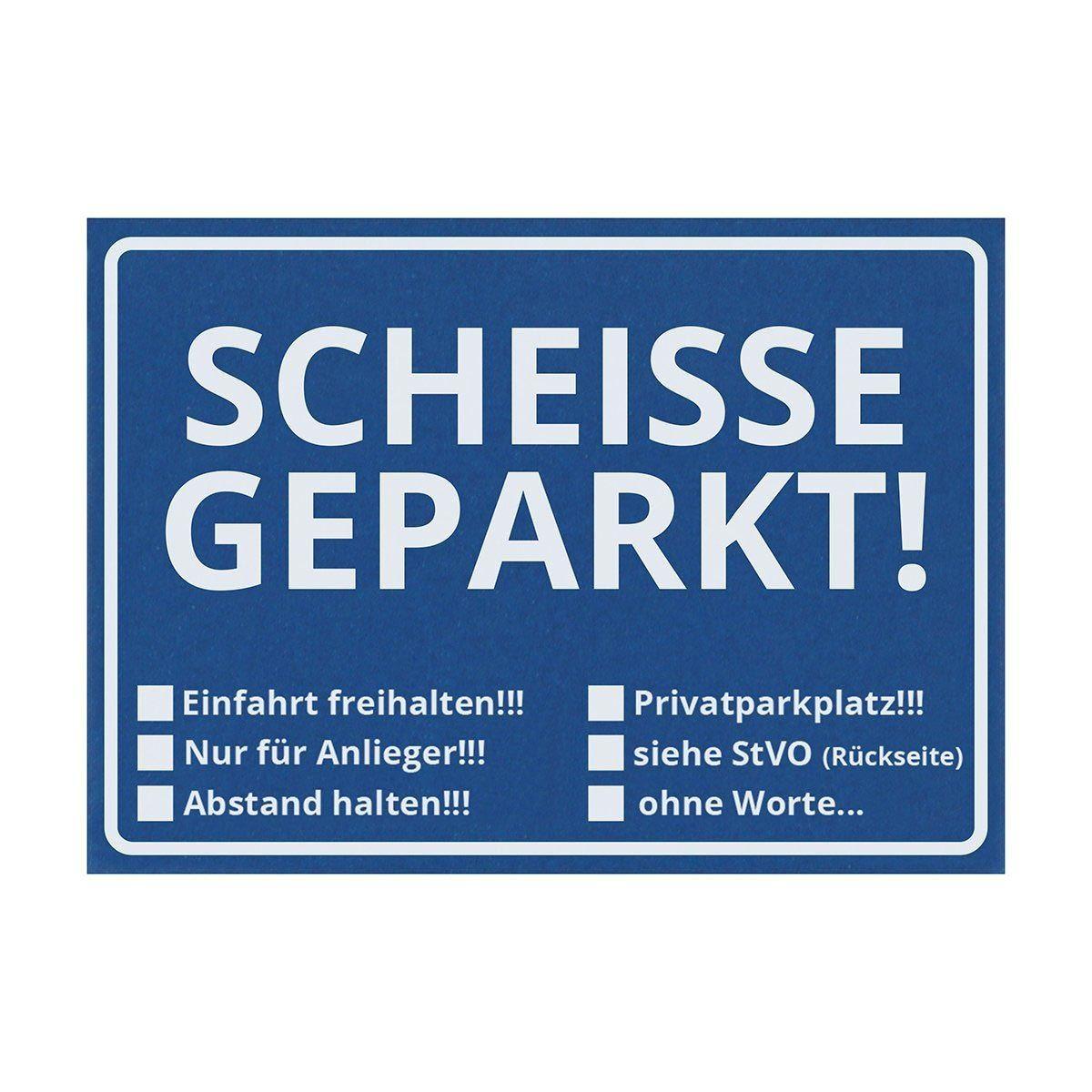 """http://parkaffe.de/scheisse-geparkt/ Wenn man mal wieder zugeparkt wurde, dann entsteht schnell ein gewisser Frust. Die Haftnotizen mit dem Aufdruck """"Scheisse geparkt"""" sind da ein tolles Mittel, um Falschparker zu ahnden und bestrafen."""