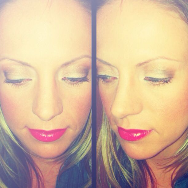 Trial Wedding Makeup For Blue Eyes