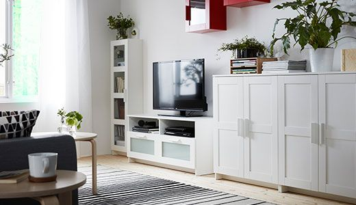 Ikea brimnes cabinets as a console or buffet, add wood top | New ...