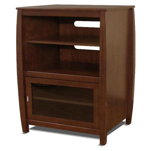 Techcraft SWH4024 Audio Side Rack Cabinet   Wood, Glass   Walnut