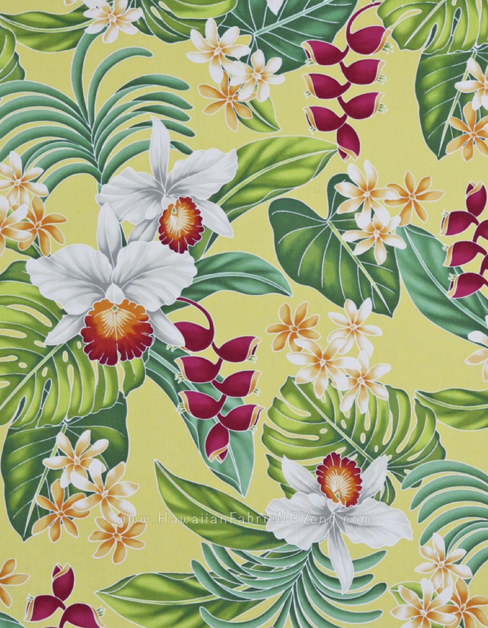 100/% Cotton Tropical Floral Print Canvas Fabric Craft Furnishing /& Dressmaking