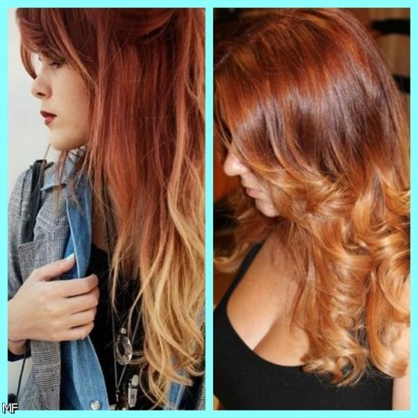 natural red to blonde ombre hair 20152016 moda 2014