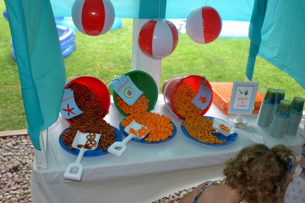 Attractive Beach Themed Party Decorating Ideas Part - 9: Diy Beach Theme Party Decorations - Cute Idea For Table Decorations
