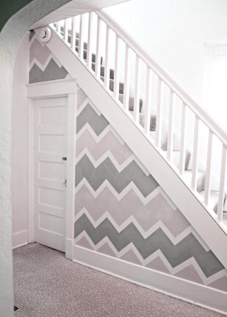 Treppenhaus Renovieren Und In Grau Weiß Gestalten