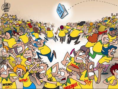 Sorriso Pensante-Ivan Cabral - charges e cartuns: Charge do dia: Como acabar com um protesto