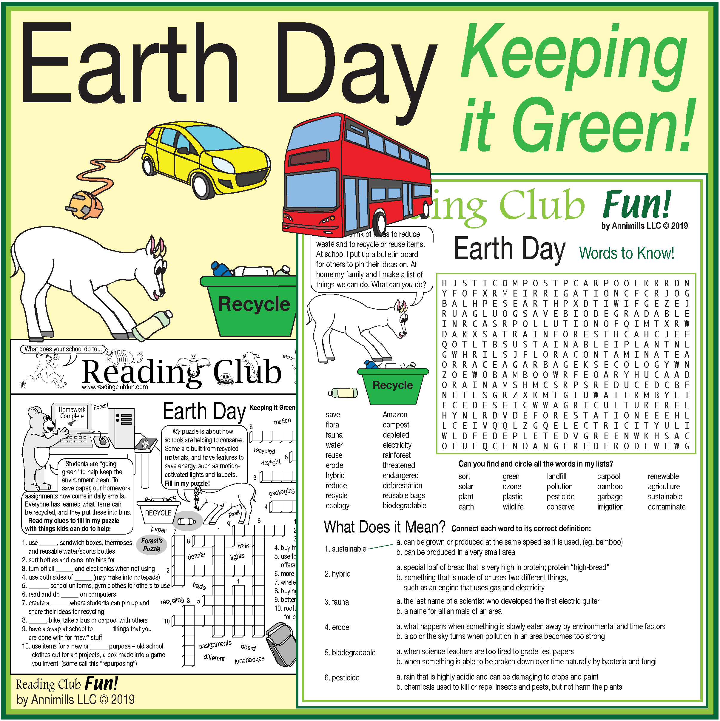 Keeping It Green Earth Day Amp Environment Activity Set