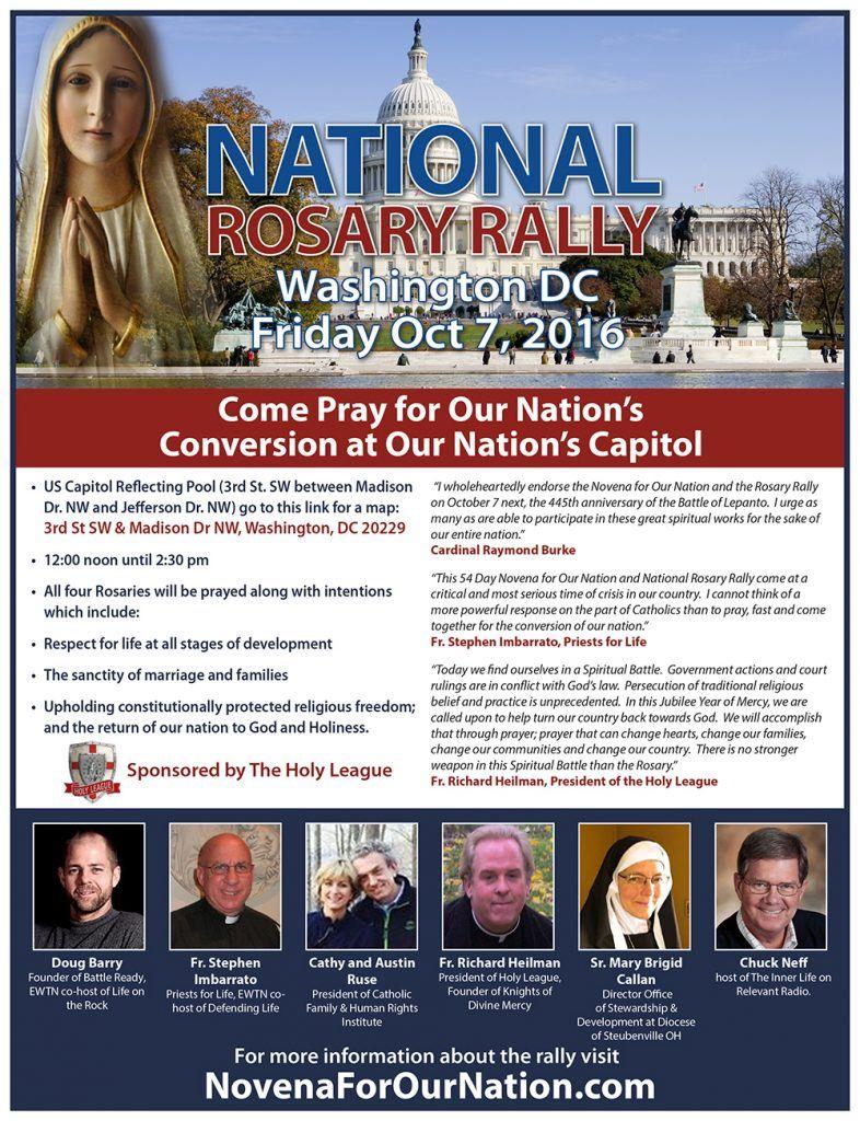 national rosary rally flyer graphic catholic pinterest